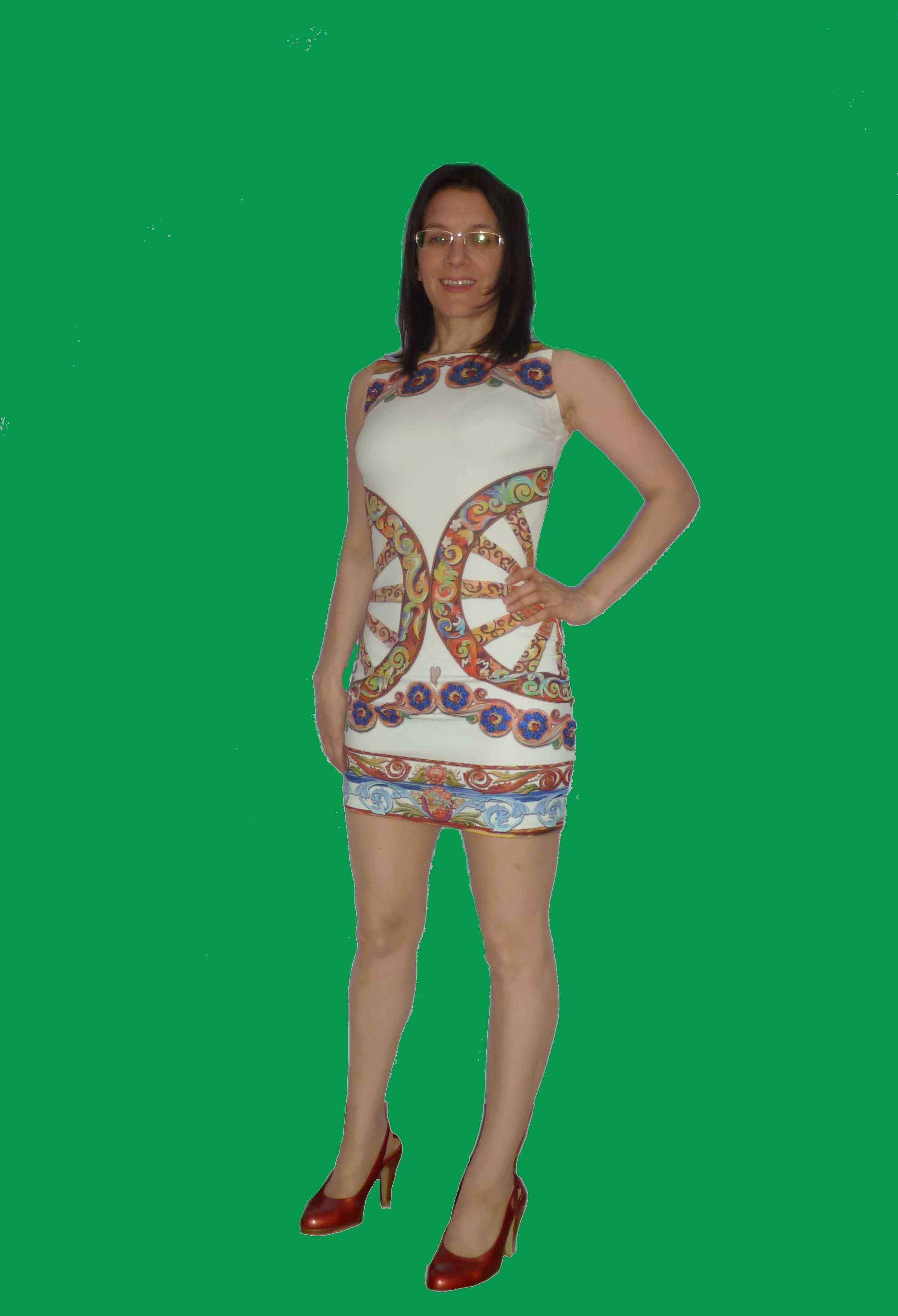 Event Companion photo Debra wearing mini-dress